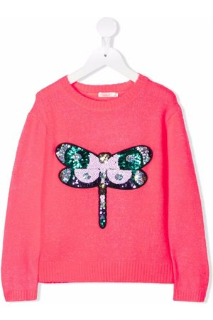 Billieblush Girls Jumpers - Sequined knitted jumper
