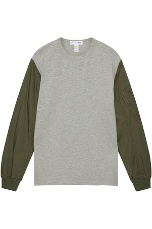 Comme des Garçons Long Sleeve T-Shirt With MA-1 Contrast Sleeves In