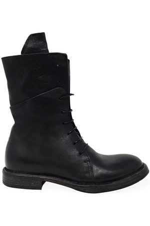 Moma Leather Lace-up Mid Calf Boot