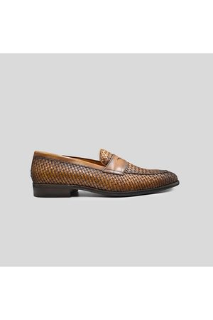 PHILIPPE LANG Woven Tassel Loafers