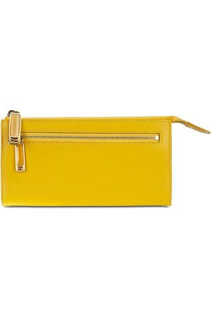 Luxe Designers Fendi Yellow Leather Pouch