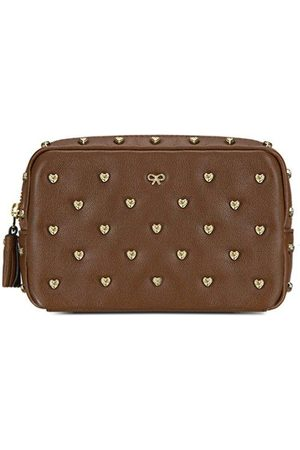 Luxe Designers Anya Hindmarch Studded heart Leather Pouch