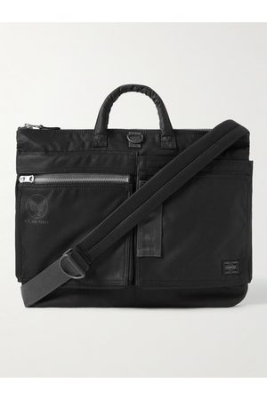 Porter-Yoshida and Co Men Laptop Bags - Flying Ace 2Way Webbing-Trimmed Nylon Briefcase
