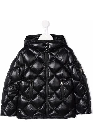 Moncler Boys Jackets - Quilted hooded down jacket