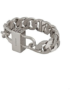 Givenchy G Chain Lock Bracelet in Silvery
