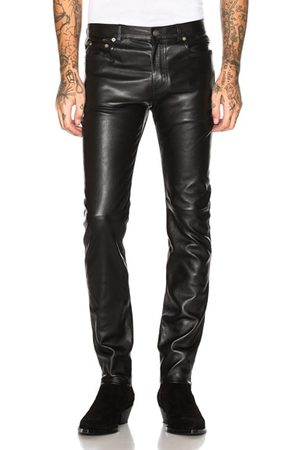 Saint Laurent Leather Skinny Jeans in