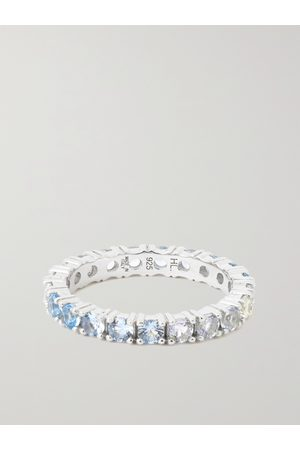Hatton Labs Eternity Sterling Crystal Ring