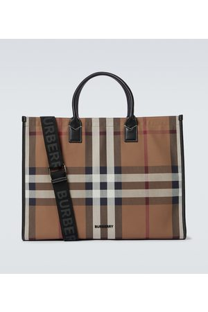 Burberry Men Suitcases & Luggage - Denny checked tote bag