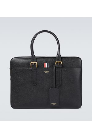 Thom Browne Men Suitcases & Luggage - Grained leather briefcase