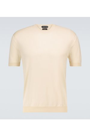 Tom Ford Men Short Sleeve - Silk and cotton knitted T-shirt