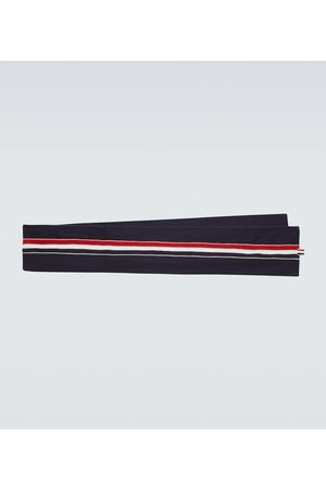 Thom Browne Men Scarves - Jersey stitched wool scarf