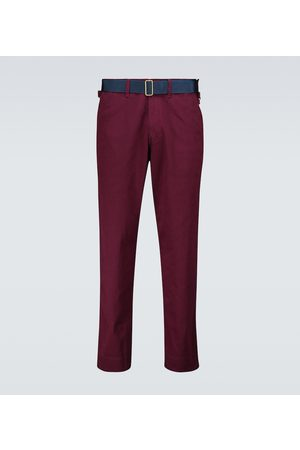 UNDERCOVER Cotton pants with suede apron