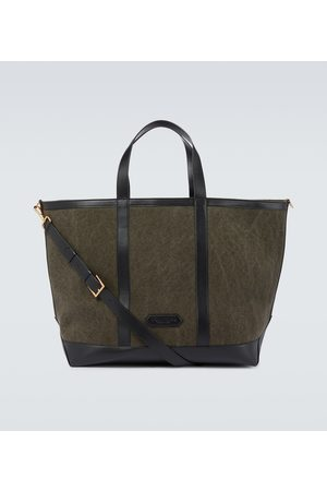 Tom Ford Men Suitcases & Luggage - Canvas and leather tote bag