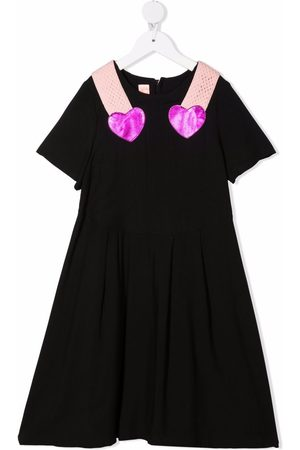Wauw Capow by Bangbang Girls Dresses - Double Heart A-line dress