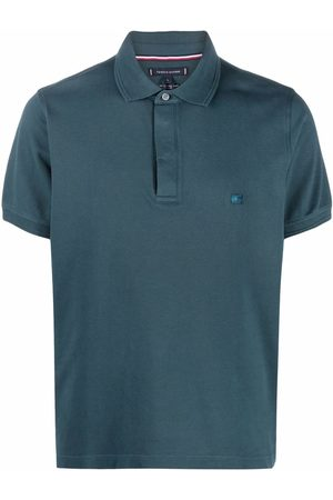 Tommy Hilfiger Embroidered flag polo shirt