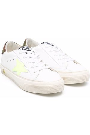 Golden Goose Boys Sneakers - Logo-patch leather low-top sneakers