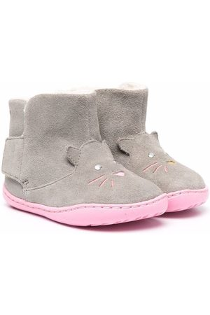 Camper Faux-shearling lined ankle boots