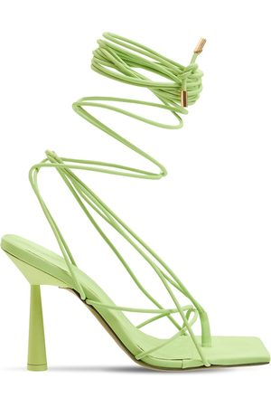 GIA Women Sandals - 100mm Rosie 6 Rubberized Lace-up Sandals