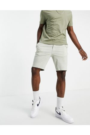 SELECTED Linen shorts in light