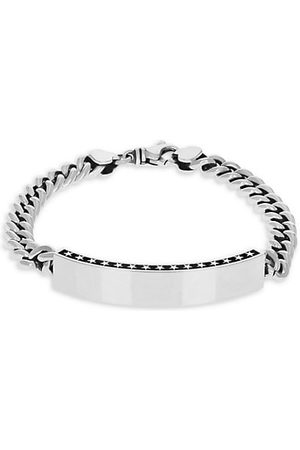 King Baby Studio Sterling Silver Curb Chain ID Bracelet