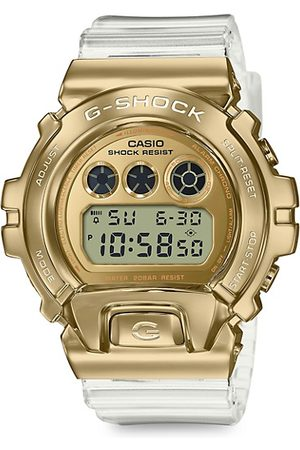 G-Shock Men Watches - Gold Ion-Plated Stainless Steel & Resin Digital Watch
