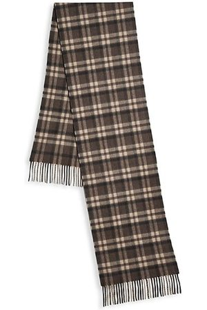 Saks Fifth Avenue Men Gloves - COLLECTION Wool-Cashmere Blend Plaid Scarf