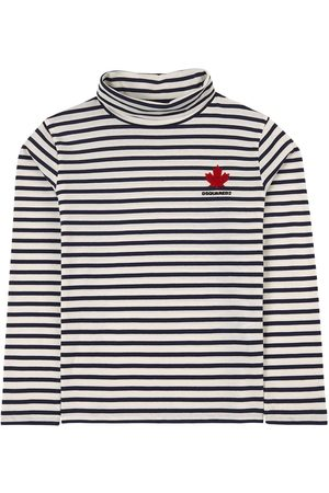 Dsquared2 Navy Striped Turtleneck Top