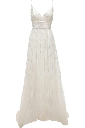 Elie saab Women Party Dresses - Sleeveless Embroidered Tulle Gown