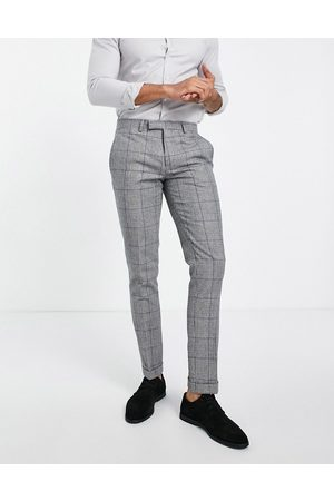 Twisted Tailor Suit trousers in prince of wales check