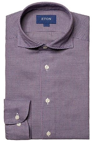 Eton Turning To Nature Slim-Fit Cotton-Blend Flannel Shirt
