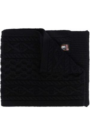 Parajumpers Scarves - Logo-patch cable-knit scarf