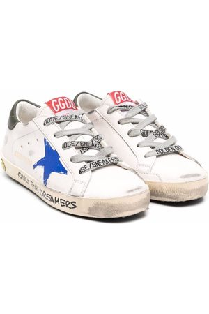 Golden Goose Girls Sneakers - Signature star-patch lace-up sneakers