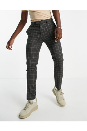 River Island Skinny check trousers in