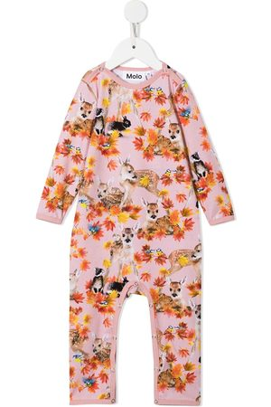 Molo Baby Rompers - Autumn Fawns-print romper