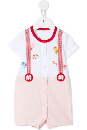 Miki House Baby Rompers - Embroidered overall romper