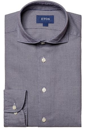 Eton Men Casual - Turning To Nature Slim Fit Cotton-Blend Flannel Shirt