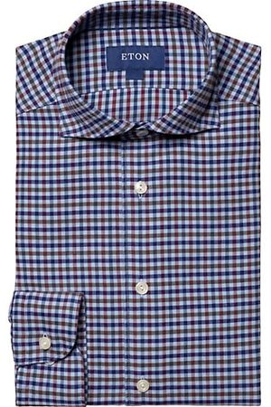 Eton Turning To Nature Slim-Fit Check Cotton-Blend Flannel Shirt