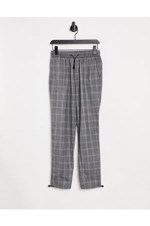 SELECTED Men Chinos - Check trousers with adjustable hem in