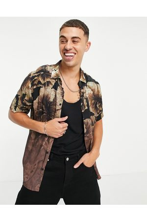 River Island Short sleeve floral fade shirt in