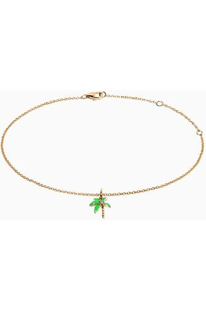 YVONNE LÉON Women Anklets & Toe-rings - Palm Tree Anklet in 9kt Yellow Gold