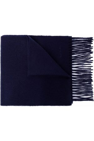 Paul Smith Men Scarves - Embroidered-logo cashmere scarf
