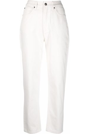 12 STOREEZ Women High Waisted - High-rise tapered leg jeans