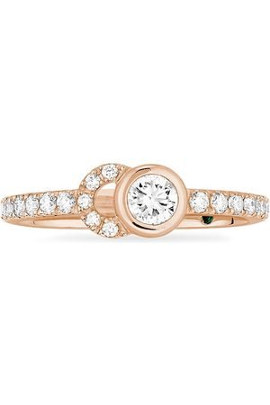 COURBET Women Rings - 18kt recycled rose gold CO half-pavé laboratory-grown diamond set ring