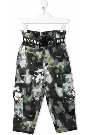 DKNY Girls Cargo Pants - Camouflage-print cargo trousers