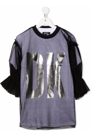 DKNY Girls Casual Dresses - Tulle-layered T-shirt dress