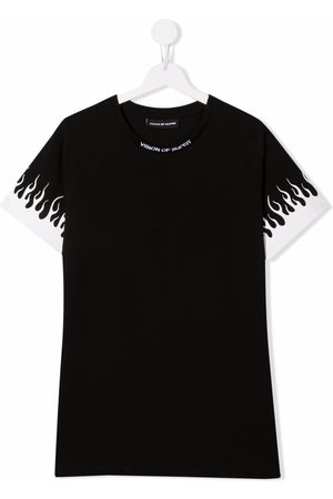 Vision Of Super Short Sleeve - Flame sleeve t-shirt