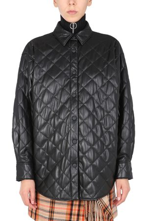 Msgm QUILTED FAUX LEATHER JACKET
