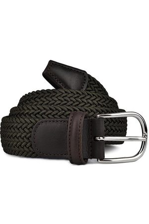 Anderson's Andersons B0667 Woven Textile Belt Olive
