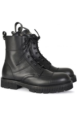 Dolce & Gabbana MILITARY LEATHER BOOTS