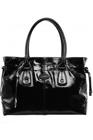 Luxe Designers Margaret' Closet Pre-Loved Tod s Black Patent Tote